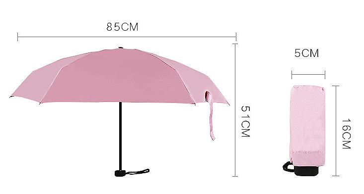 4dfff85d8c9a5 waterproof five-folding mini capsule pill umbrella, View mini ...