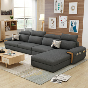 Fancy wooden frame sofa sectional set