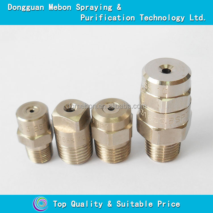 Stainless steel dust suppression nozzle full cone jet