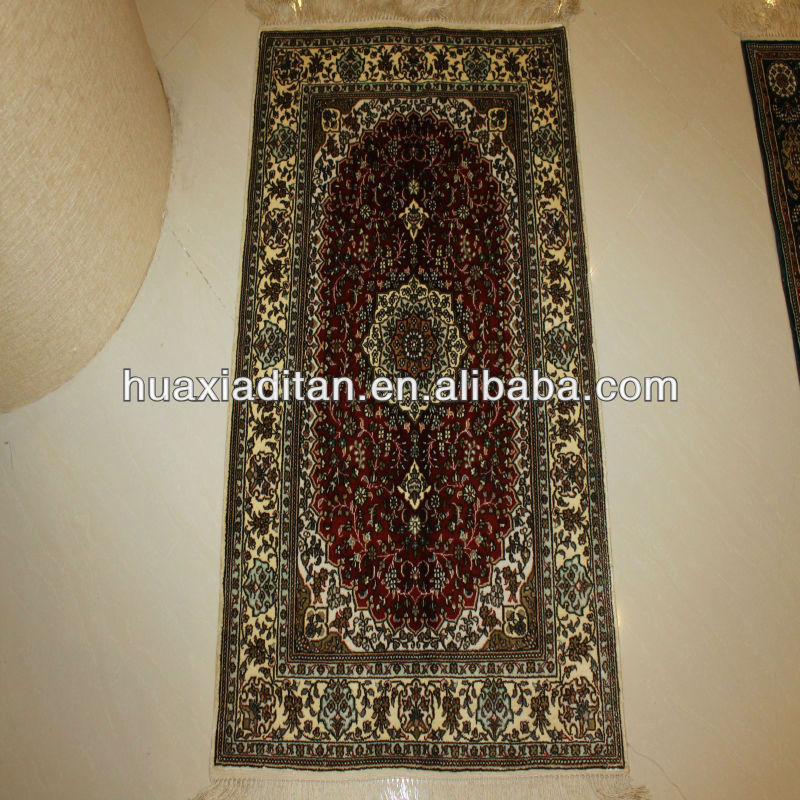 natural handmade silk carpet