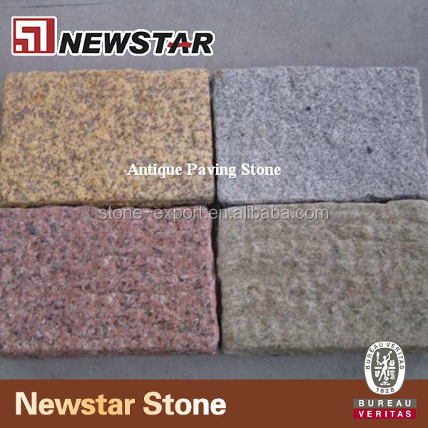 Flamed surface granite paver brick