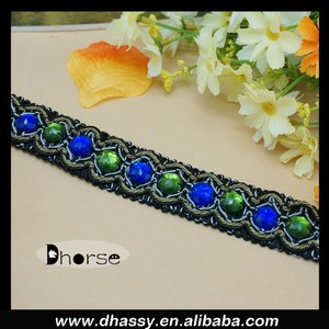 Wholesale crystal beaded saree border