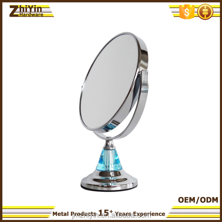Bedroom portable two sided magnifying make up desk top mirror