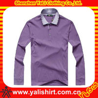 OEM simple design comfortable long sleeve blank cotton trendy clothes for men