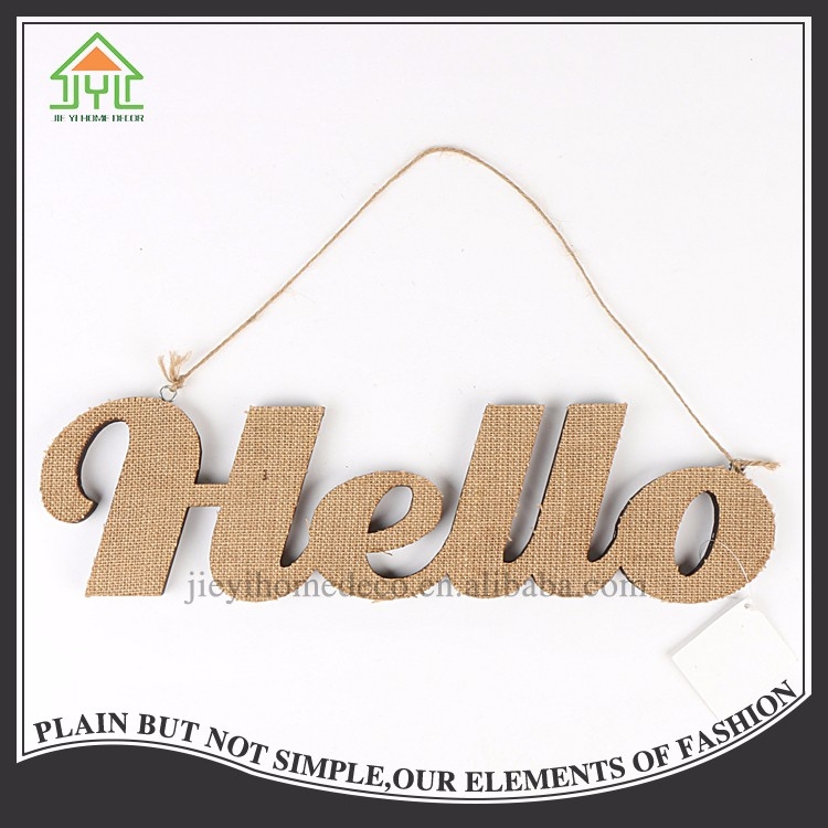 Modern Wood Brown Linen Free Sale Welcome Letter Sample