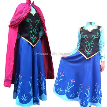 frozen princess anna costume kids anna dress cosplay halloween costumes for girls dress children party dress - Halloween Anna Costume