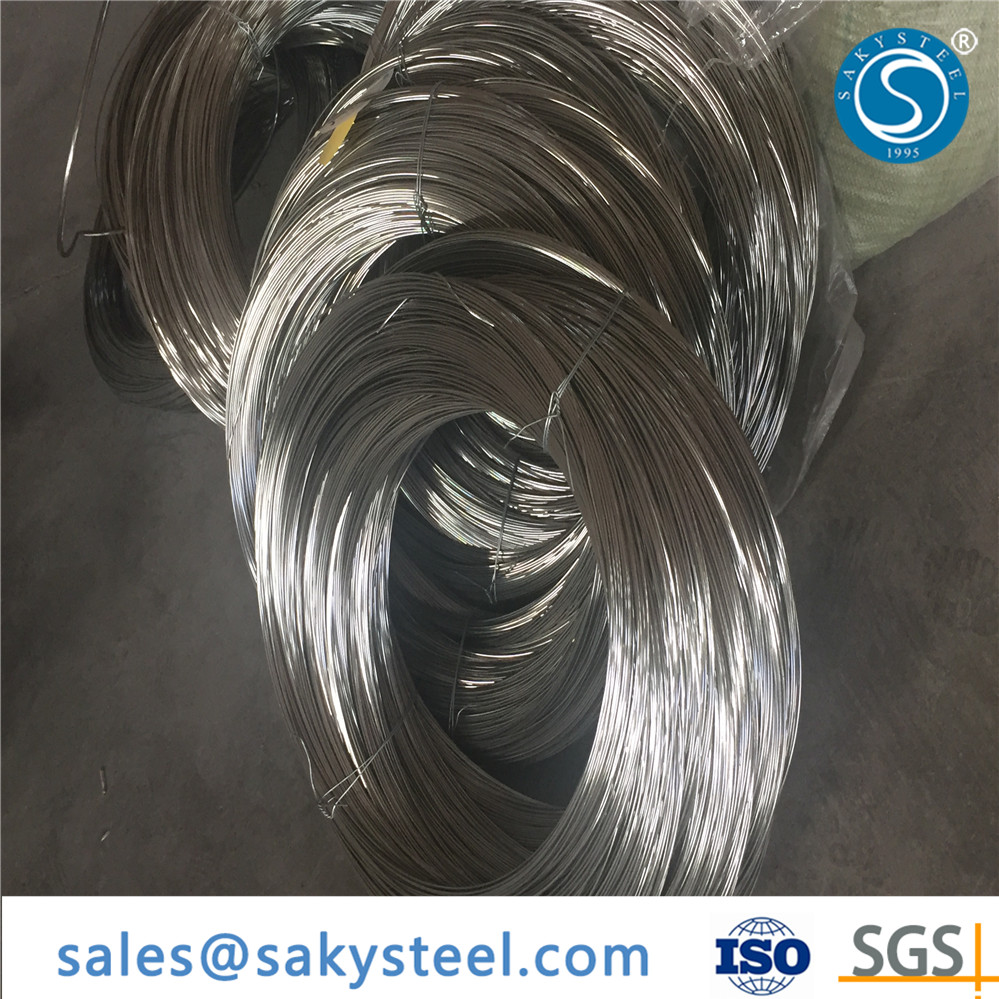 Saky Steel Best stainless steel titanium spring wire Price