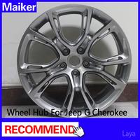 SRT8 Alloy wheel rims Highlight Black for Jeep Grand Cherokee wheels hub maiker