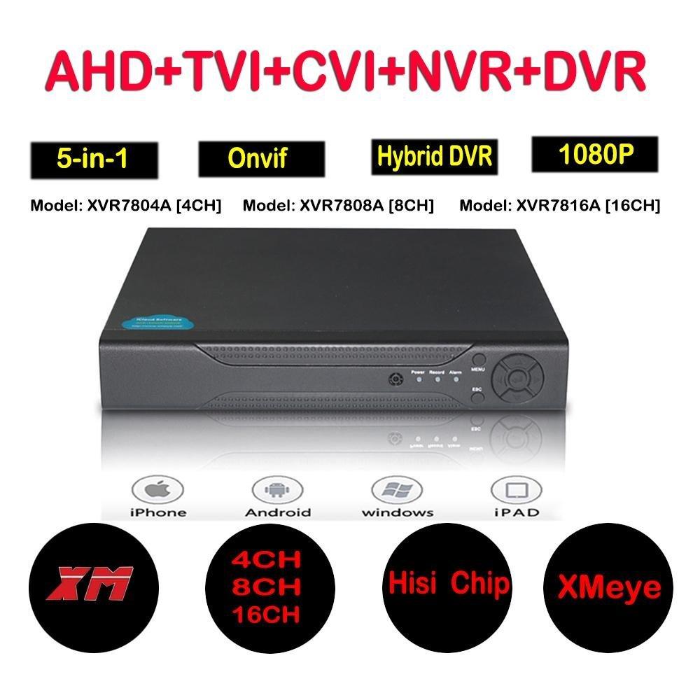 HITSAN 4ch 8ch 16ch 1080n hybrid 5 in 1 ahd dvr 1080p nvr 1080n ahd 960h analog tvi cvi cctv 8 channel standalone dvr qr code scan