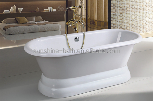 vintage/classical 1 person hot tub,pedestal freestanding low price bathtub/bath/tub