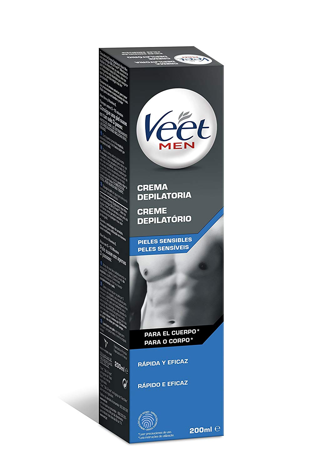 Buy Veet Sensitive Skin Mens Depilatory Cream 200ml In Cheap Price