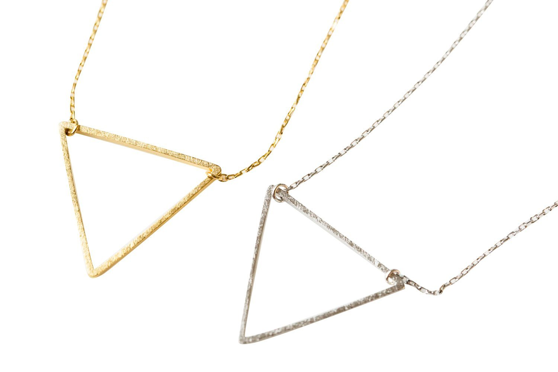Upside Down Triangle Necklace-gj , triangle jewelry, triangle necklace, triangle shape jewelry, triangle shape necklace, triangle jewellry, geometric