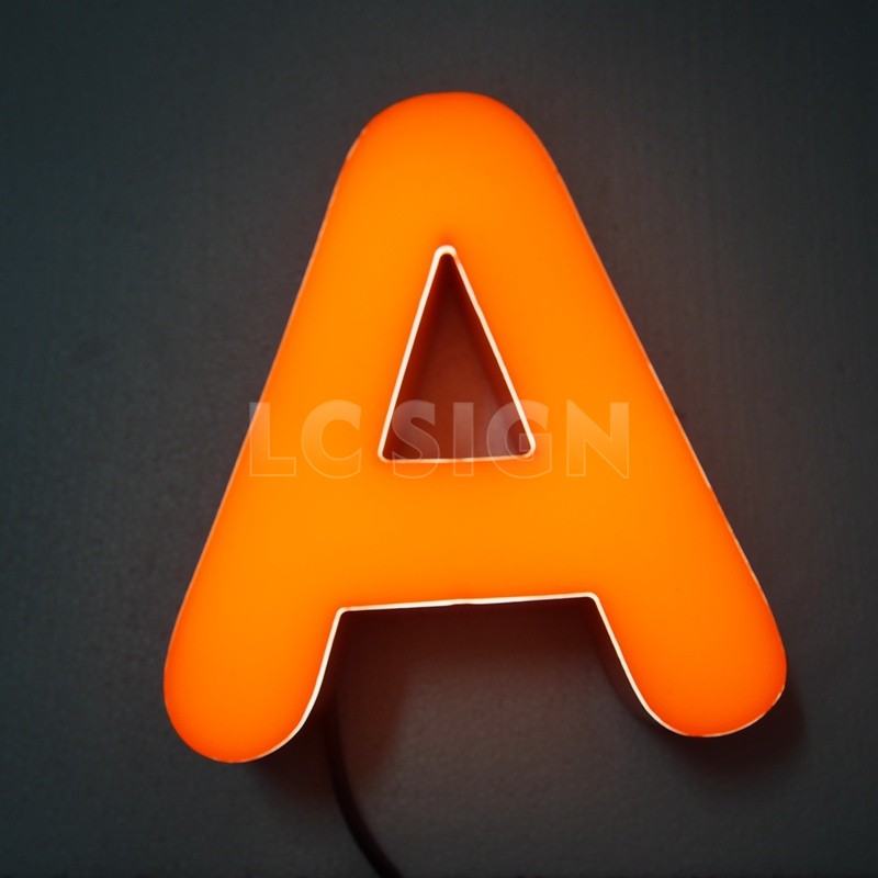 Cheap price rimless led channel letters epoxy resin for Cheap channel letter signs