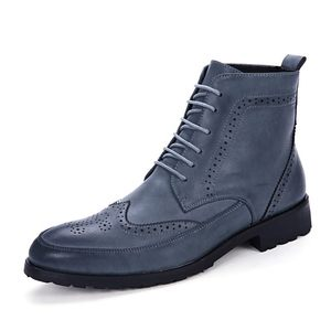 Italian Winter Chelsea Shoes Ankle Leather Man Boot