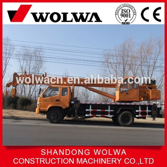 Hot sale Wolwa 12 ton lorry crane hydraulic crane truck with crane for sale