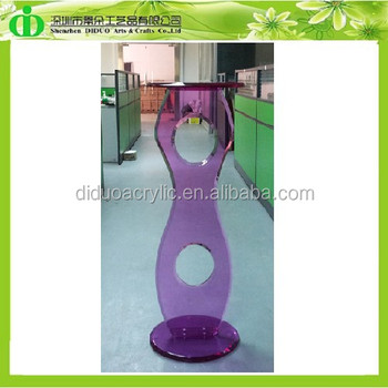 DDL-0024 Luxury Color Clear Acrylic Pedestal Stands for Flowers, Wholesale Acrylic Pedestal Table