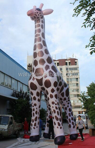 Awesome 10m High Giant Inflatable Giraffe For Advertising