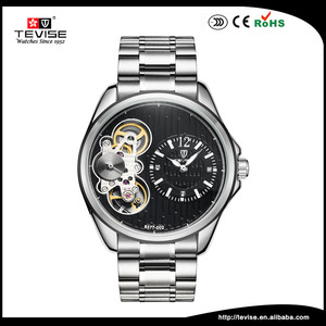 2018 Classic Vintage Watch Men Luxury Brand Automatic Movement Moonphase Watch with double movement