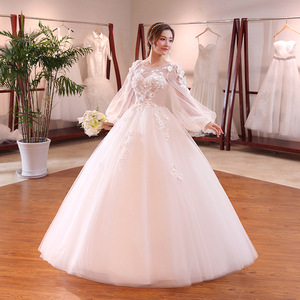 Fairy Wedding Dress.Zh2147g Fairy Style Sheer Long Sleeves Princess Ball Gown Wedding Dresses Puffy Tulle Skirt Bridal Gown