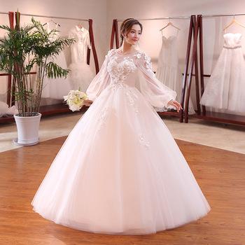 zh2147g fairy style sheer manga larga princesa ball gown vestidos de