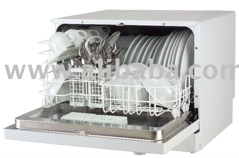 6 Place Setting Countertop Compact Dishwasher