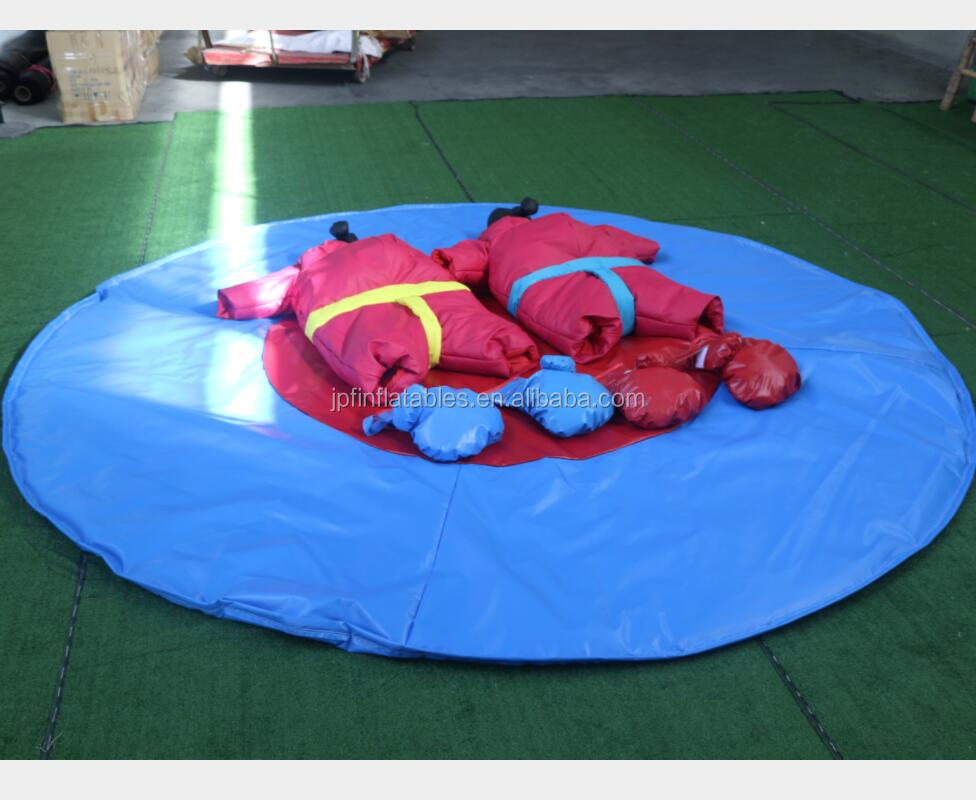 2019 Amusement park sports game kids inflatable wrestling ring with helmets and gloves