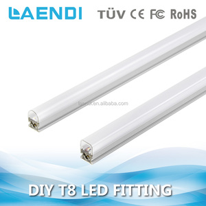 factory 120lm/w 18w led tube fitting 30w integrated 2ft led tube light for warehouse lighting