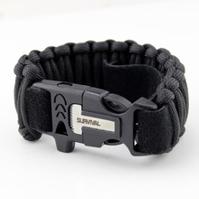 Ajustável Survival flint fire starter survival <span class=keywords><strong>paracord</strong></span> <span class=keywords><strong>pulseira</strong></span> com logotipo <span class=keywords><strong>paracord</strong></span> survival bracelet