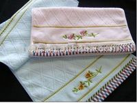 100% cotton embroidery face cloth towel