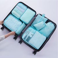 Factory durable clothes High quality zipper Luggage Waterproof Compression Pouches 7 sets Packing Cubes