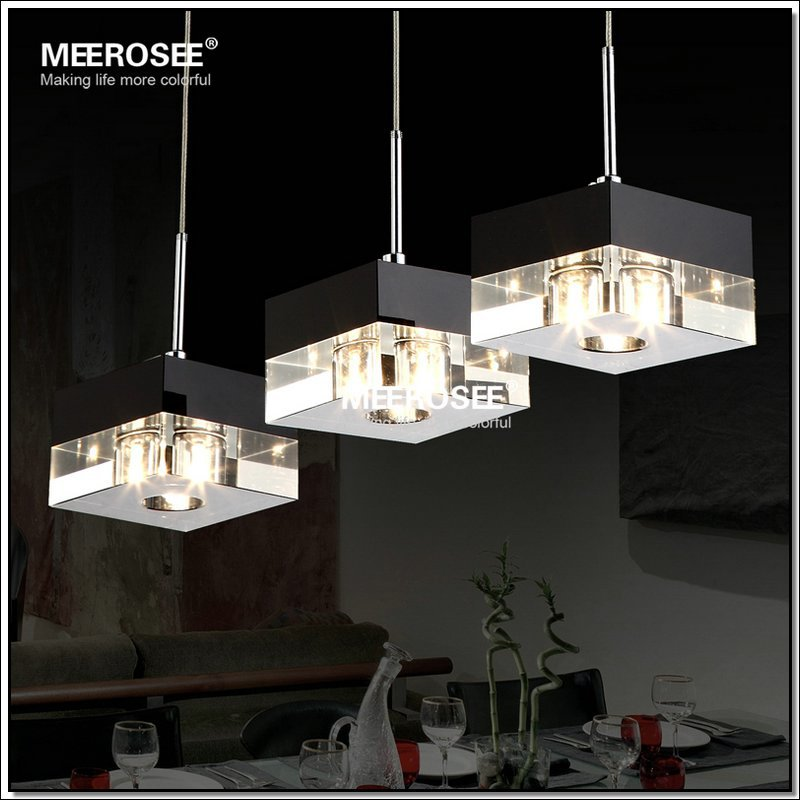 Modern Fashional Square Pendant Lamp Lighting Crystal LED Hanging Light for Living Room MD2639