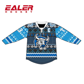 Unique Sublimation Design Christmas Ice Hockey Jerseys With Your Own Design 92b3b9cc9cd