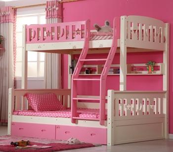 Stapelbed Met Dubbel Bed.Prinses Slaapkamer Meubels Dubbel Stapelbed Bed Met Lades Stapelbed