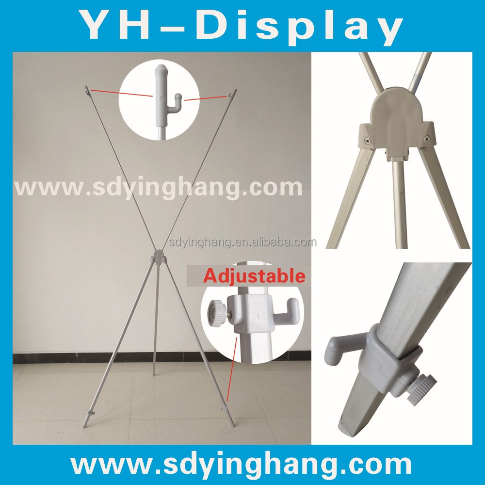 Diferentes plateado x banner modelo, soporte X, X marco de aluminio ...