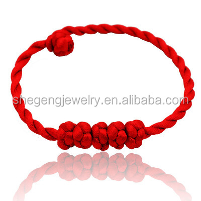 Good Luck Kabbalah Knotted Red String