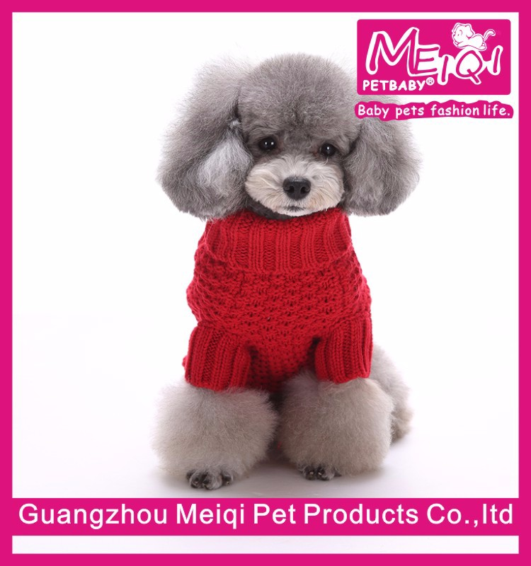 Fashion Simply Dog Clothes Blank Dog Sweater Cool Knitted Dog
