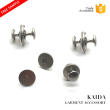 KAIDA Garment Accessories magnet fastener magnetic button with double rivet for bag