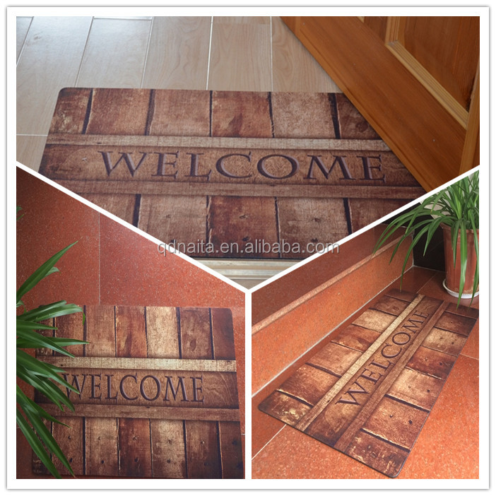 PP printing outdoor rubber step rubber backing mats