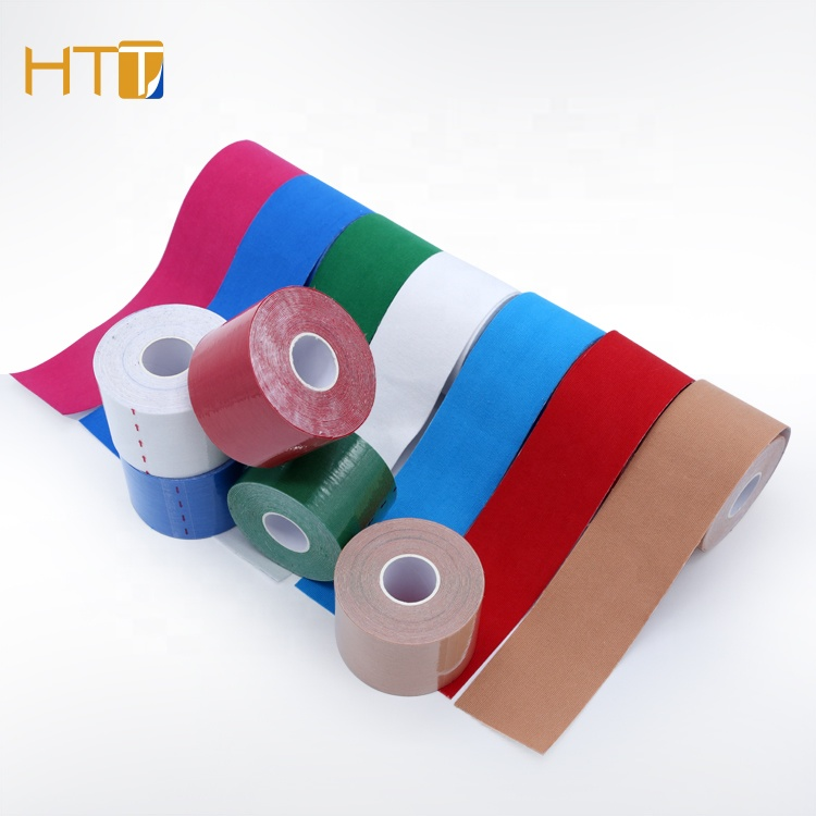Skin friendly adhesive kinesiology sports tape Waterproof kinesiology Tape for athletes