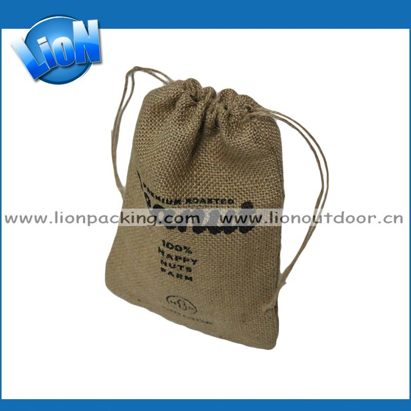 Wholesale Small Hessian Bag/hemp Drawstring Bag/jute Burlap Bag ...