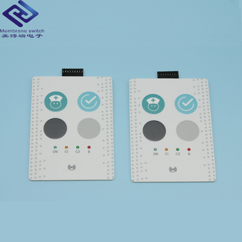 Cutome-made EL / LED backlit Metal Dome Control Panel Membrane Keypad Switch