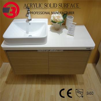 Luxury Acrylic Table Top Wash Basin Design Cabinet Shower Room Basin