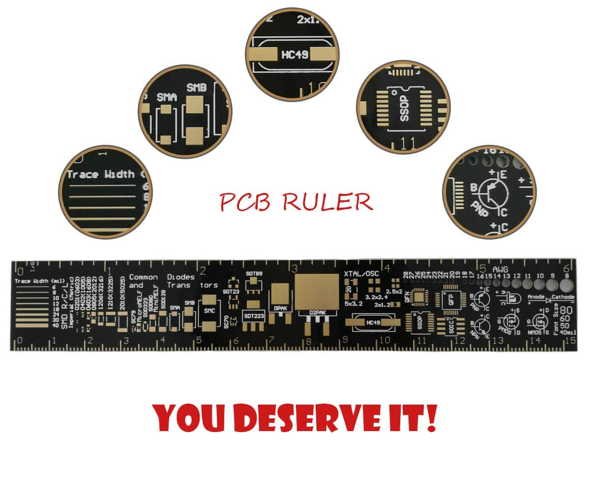Cheap Arlon Electronic Pcb Find Deals On Line Electronics Using Ic Ne555cd4017 Projects Circuits Get Quotations Multifunctional Ruler 6 Inch Measuring Tool Design For Engineers By Makerdoit
