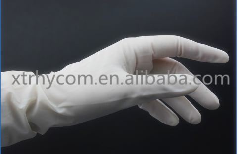 Best Selling Products CE FDA ISO disposable cheap china long top latex surgical glove sterile gloves