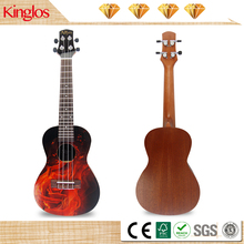 Hoge Kwaliteit Artistieke Colour Akoestische <span class=keywords><strong>Ukulele</strong></span> Massief Hout Mahonie