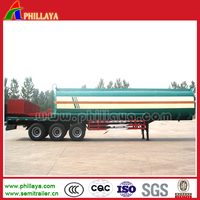 Best quality 3 Axles 45cbm Diesel Fuel Petrol Oil Tanker Semi Trailer from Phillaya
