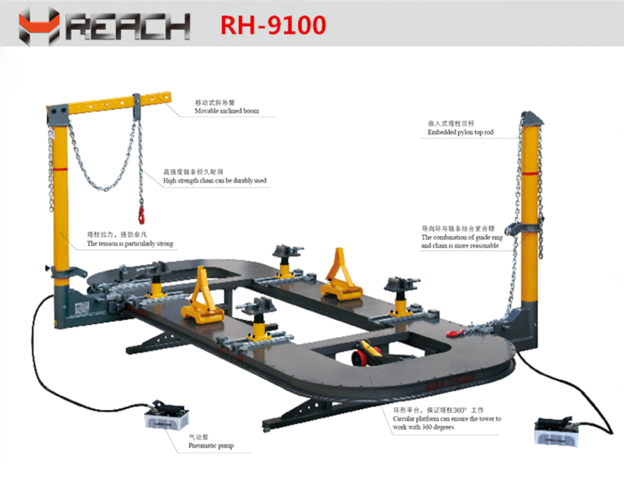 Car Body Frame Alignment Bench