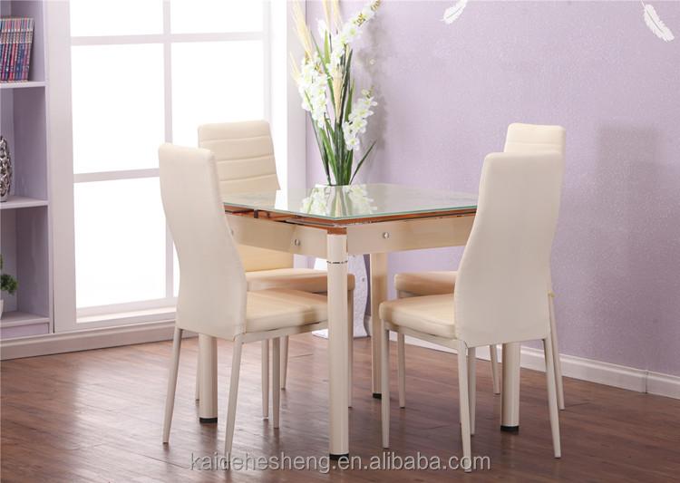 Hoge kwaliteit vierkante glas eenvoudige uitbreiding moderne eettafel eettafels product id - Moderne eettafels ...
