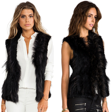 Woman Soft Short Rabbit Fur Vest Fur Waistcoat Knitted Fur Vest