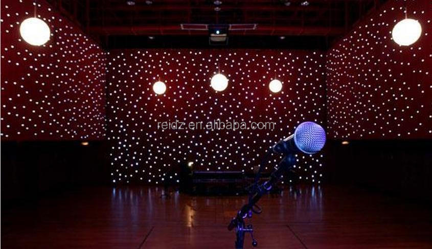 Indoor Wedding Stage Backdrop Soft Led Curtain Star Effrct Rgb ...